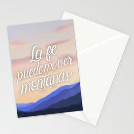 La fe puede mover montañas. Mateo 17:20 Stationery Cards