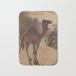 Vintage Camel Painting (1909) Bath Mat