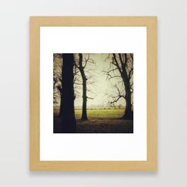 Dancing trees Framed Art Print