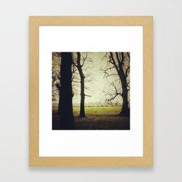 Dancing trees Framed Art Print