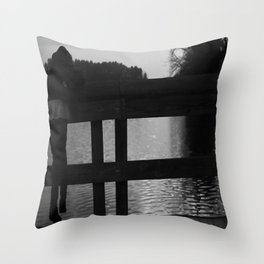 Cadence at the Docks Throw Pillow