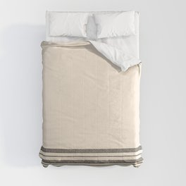 Textured Mesh Stripes Cuff in Black and Almond Cream Comforters