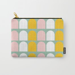 Pink, Orange and White Ice-Lollies on Teal Carry-All Pouch