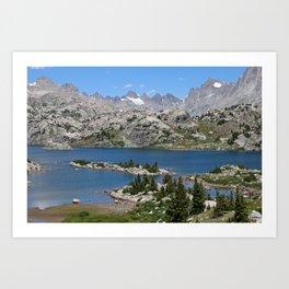 Island Lake, Wind River Range Art Print