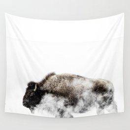 Bison Yellowstone Winter Wall Tapestry