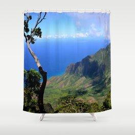 Hawaiian Treasure: Kalalau Lookout on Kauai Island Shower Curtain