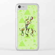 Carnival harlequin Clear iPhone Case