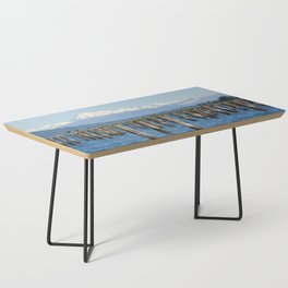MOUNT BAKER KOMA KULSHAN AND OLD PILINGS  Coffee Table