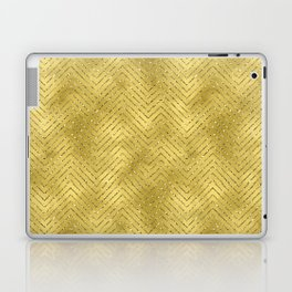 Gold ,Glitter and Chevrons Laptop & iPad Skin