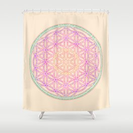 Sacred Geometry Pastels Shower Curtain