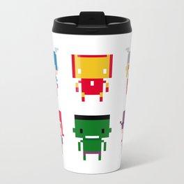 Pixel Avengers Metal Travel Mug