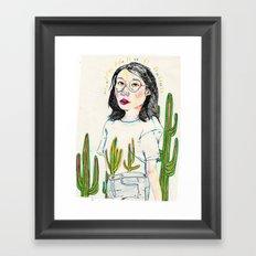 girl8 Framed Art Print