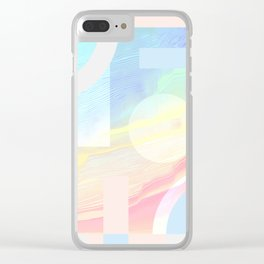 Shore Synth #2 Clear iPhone Case