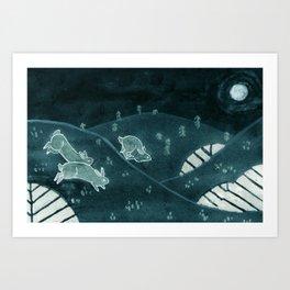Midnight Run Art Print