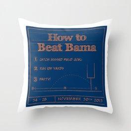 How to beat Bama Throw Pillow