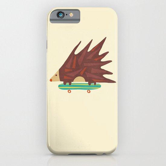 Hedgehog in hair raising speed iPhone & iPod Case