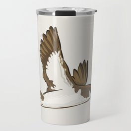 Simple Minimalist Manx Shearwater Flying Travel Mug