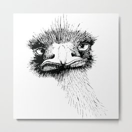 Earnest Emu Metal Print