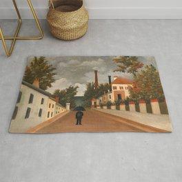 Henri Rousseau - Vue des environs de Paris Rug