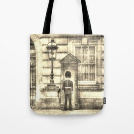 Buckingham Palace Queens Guard Vintage Tote Bag