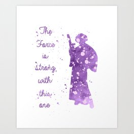 Princess Leia Star . Wars Art Print