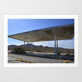 Ghostly Gas Station Art Print