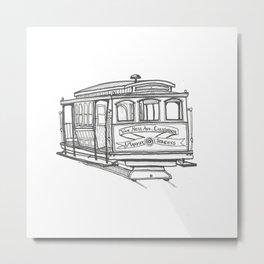 San Francisco Cable Car Metal Print