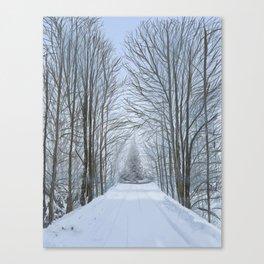 Winter Tree Path Canvas Print