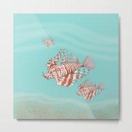 Fish Manchu Metal Print