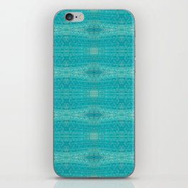 Blue Glass Diamonds iPhone Skin