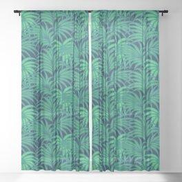 Palm leaves VIII Sheer Curtain