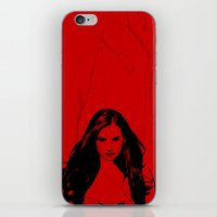 the vampire diaries iPhone & iPod Skins featuring Vampire Diaries by Tamsin Lucie