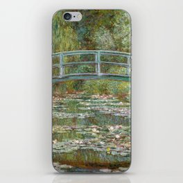 Monet, Water Lilies and Japanese Bridge, 1854 iPhone Skin