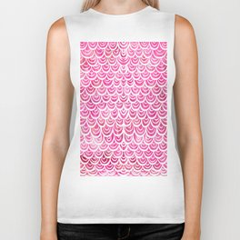Watercolor Mermaid Pink Tourmaline Biker Tank