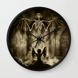 Dark Victorian Portrait Series: Lady Charlotte Nightshade, Her Majesty's Necromancer Wall Clock