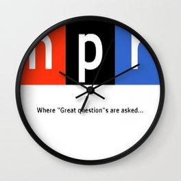 Great Question - NPR Wall Clock