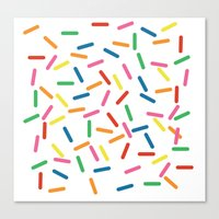 sprinkles Canvas Prints featuring Sprinkles by Gold Collective