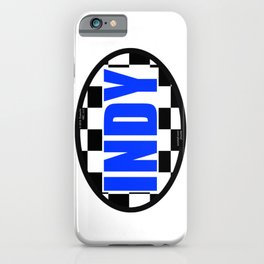 """INDY Oval """"Sticker"""" iPhone Case"""