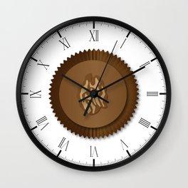 Chocolate Box Wallnut Wall Clock