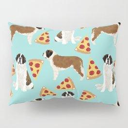 Saint Bernard pizza slices funny cute dog gifts for dog lover unique dog breeds Pillow Sham