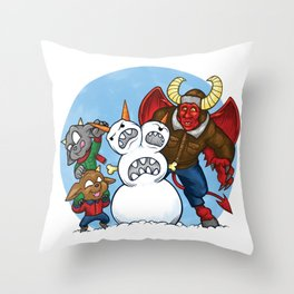 When Hell Freezes Over Throw Pillow