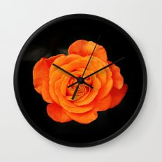 Romantic Rose Orange Wall Clock
