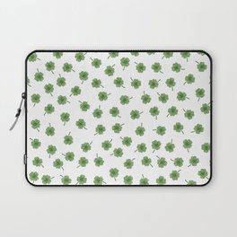 Light Green Clover Laptop Sleeve