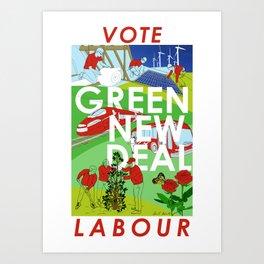 Green New Deal (Vote Labour) Art Print
