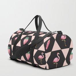 Strawberry Flamingo Duffle Bag