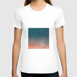 Modern  Textured  Atlantic Blue Abstract T-shirt