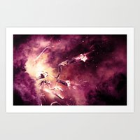 abyss Art Prints featuring Abyss by Harold Urquiola