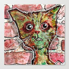 Chester the zombie cat Canvas Print