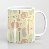 vegetable Mugs featuring Vegetable Salad by akaink
