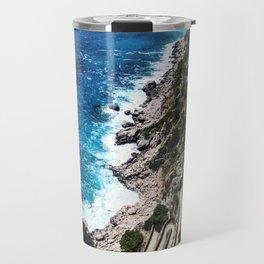 Capri Island Waves Travel Mug
